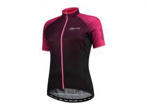 Rogelli Glow - Cykelbluse - Dame - Korte ærmer - Race Fit - Bordeaux/Pink - Str. S