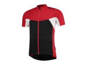 Rogelli Recco 2.0 - Cykeltrøje - Korte ærmer - Sort/Rød/Hvid - Str. S