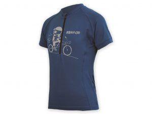 Sensor Entry Jersey - Cykeltrøje med korte ærmer til børn - Blå - Str. 130