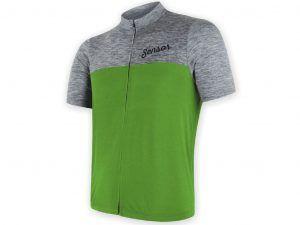 Sensor Motion FZ Jersey - Cykeltrøje med kort ærme - Grå/grøn - Str. M