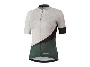 Shimano Mizuki - Cykeltrøje med korte ærmer - Dame - Hvid/Grå - Str. 2XL