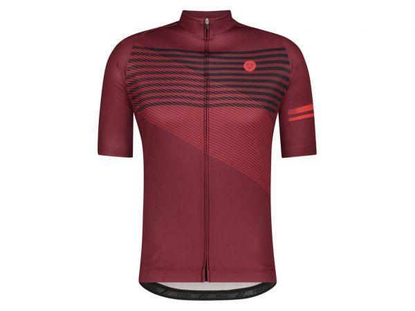 AGU Jersey Striped - Cykeltrøje - Windsor Wine - Str. L
