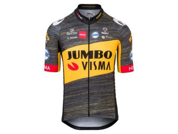 AGU Jumbo-Visma Replica - Cykeltrøje med korte ærmer - Sort - Str. M