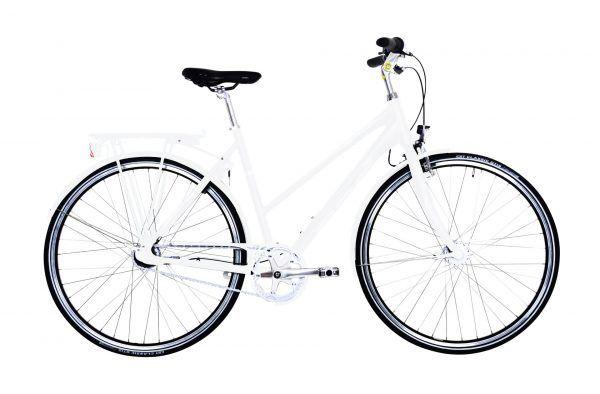 Ebsen Street Trend Pro Dame 7 Gear Hvid 52cm - 2019