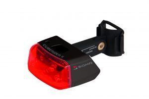 Sigma Baglygte Cuberider II sort fast lys el. blink
