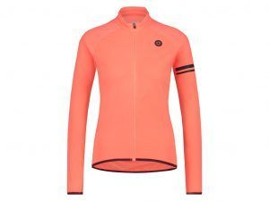 AGU Essential Thermo Jersey - Dame cykeltrøje L/Æ - Coral - Str. M