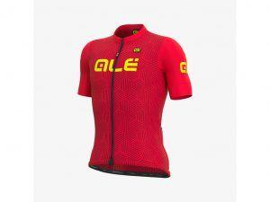 Alé Solid Cross - Cykeltrøje m. korte ærmer - Str. M - Rød