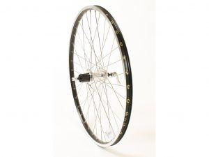 """Connect MTB baghjul - 26""""- 8/10 speed - Disc / Fælgbremse - Sort/sølv"""