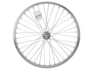 """Contec 20"""" forhjul - Aluminiumsfælg - 19-405 -2 mm eger - Sølv"""