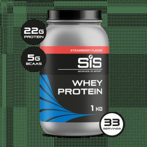 SIS Whey Protein Powder - Jordbær - 1kg