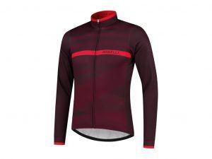 Rogelli Stripe - Cykeltrøje - Lange ærmer - Bordeaux lilla rød - Str. S