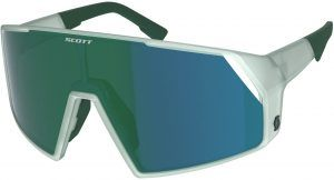 Scott Pro Shield Cykelbrille - Hvid/Grøn/Blå