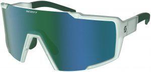 Scott Shield Cykelbrille - Grøn/Hvid/Blå
