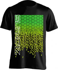 Supacaz T-shirt Star Fade - Sort/Grøn/Gul